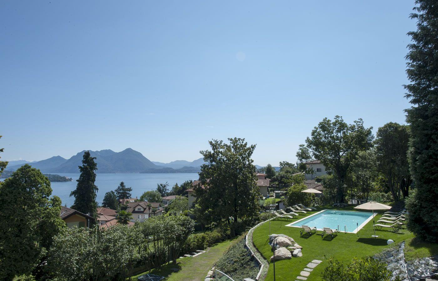 Lake and swimmingpool view