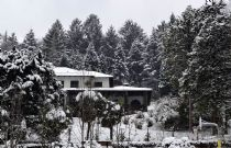 Villa Ermelinda covered by the snow some years before the restructuring project